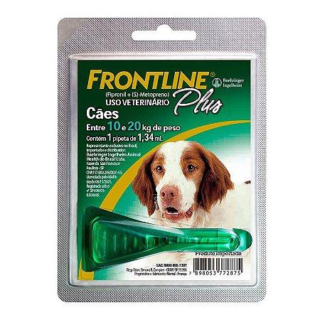 Frontline Plus Antipulgas e Carrapatos para Cães 10 a 20 Kg