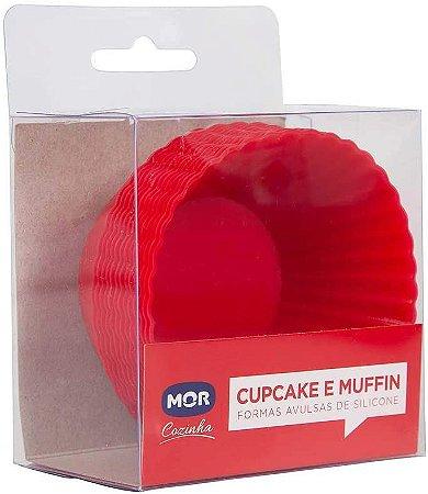 Mor Cupcake e Muffin Formas Avulsas Silicone 12 Unidades