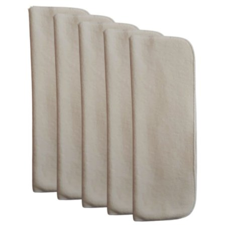 Kit de 5 absorventes de melton Flex (4 ou 6 camadas) abertos Bambolelê