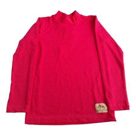 Camisa com proteção UV50+ rosa cereja