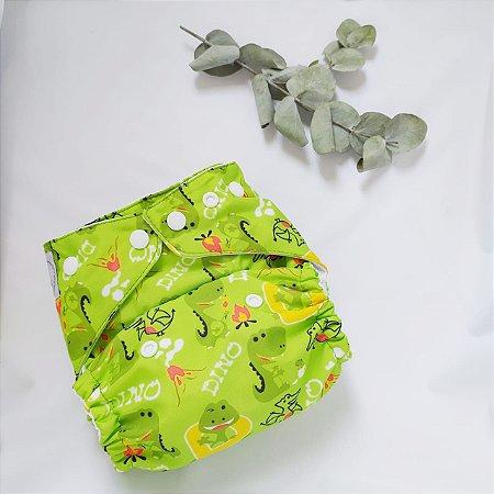Fralda Dinos Verde com absorvente
