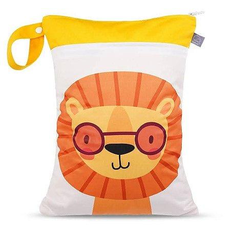 Sacola impermeável com bolso duplo Leão