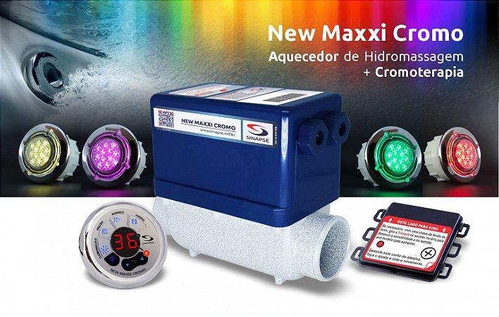 AQUECEDOR NEW MAXXI CROMO LED 8000W  - SINAPSE