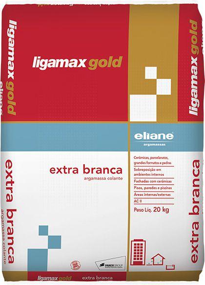 Argamassa Eliane Ligamax Gold Extra Branca ACII SC 20 KG