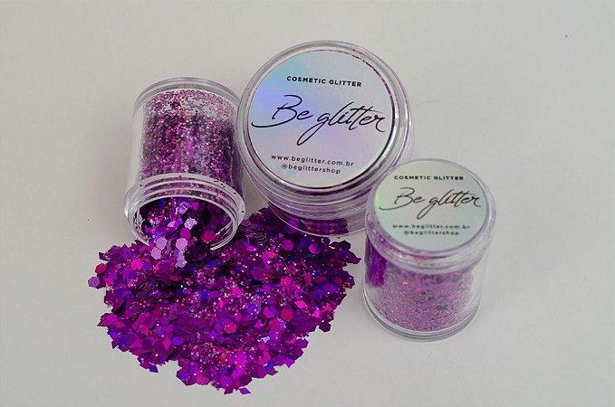 Glitter Flower Violet