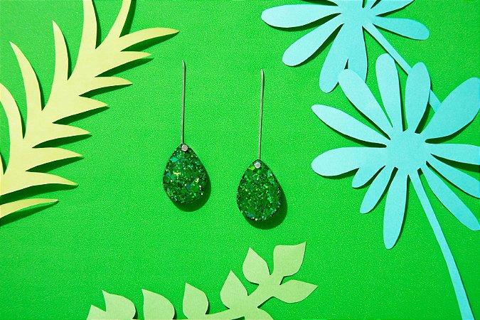 Brinco Pingo - Emerald Green