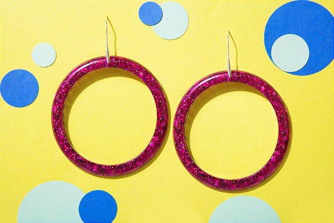 Brinco Círculo - Pink