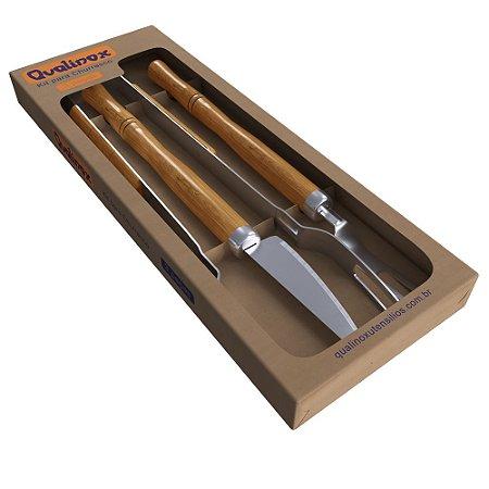 Conj. garfo faca e pegador