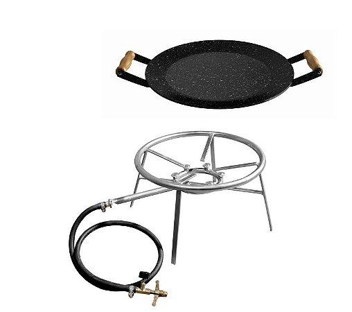 Kit fogareiro 6 caulins + disco esmaltado 430mm diâmetro