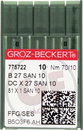 AGULHA DCX27 10 (SAN 10) Marca: Groz Beckert / Modelo: DCx27 10 San 10