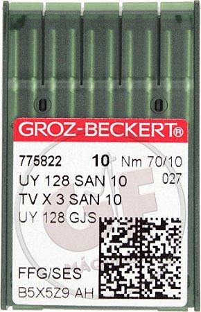 AGULHA UYX128 10 (SAN 10) Marca: Groz Beckert / Modelo: UYx128 10 San 10