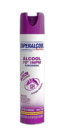 Álcool Aerossol 70 INPM Coperalcool BacFree Lavanda Oriental 360ml