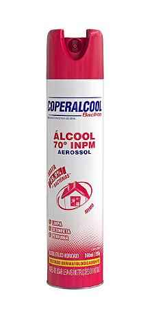 Álcool Aerossol 70 INPM Coperalcool BacFree Mimo 360mL
