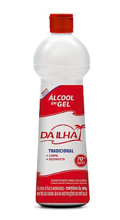 Álcool Gel Da Ilha 70°INPM Tradicional 480g