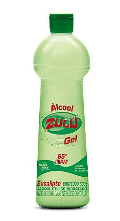 Álcool Gel Zulu 65°INPM Eucalipto 500g