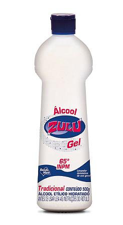 Álcool Gel Zulu 65°INPM Tradicional 500g