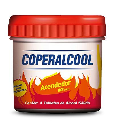 Álcool Sólido Acendedor Coperalcool 4 Pastilhas