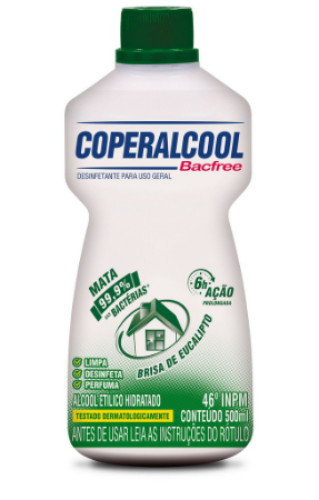 Coperalcool Bacfree 46 INPM Eucalipto 500ml