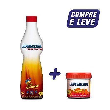 Compre 1 Gel Acendedor Coperalcool 480g e Leve Álcool Sólido Acendedor Coperalcool 4 Pastilhas