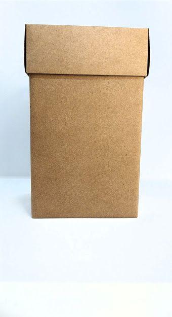 Caixa Acoplada Kraft Para Presente Tamanho M 20,5cm Altura x 12,5cm Largura R.4245 Unidade