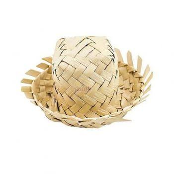 Mini Chapéu de Palha Para Enfeitar e Decorar 6cm x 6cm x 3cm R.c002 Unidade