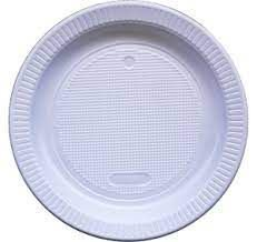 Prato Plástico Raso Copomais Branco 15cm Pacote Com 10