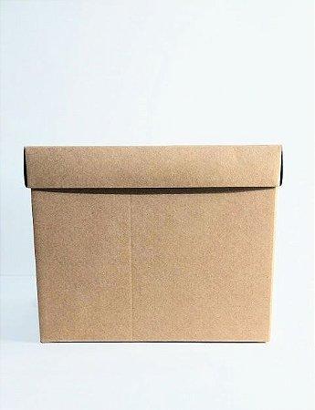 Caixa Acoplada Kraft Para Presente Tamanho GG 18cm Altura x 23cm Largura R.4187 Unidade