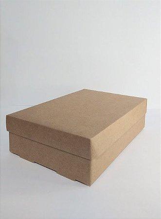 Caixa Duplex Kraft Para Presente Tamanho M 30cm Comprimento x 20cm Largura x 7cm Altura R.3957 Unidade