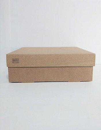 Caixa Duplex Kraft Para Presente Tamanho G 27,5cm Comprimento x 27,5cm Largura x 9cm Altura R.3958 Unidade