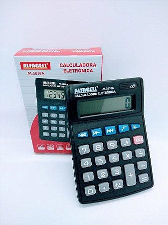 Calculadora Eletrônica 8 Dígitos R.AL3816A 7,5cm x 10,5cm Unidade