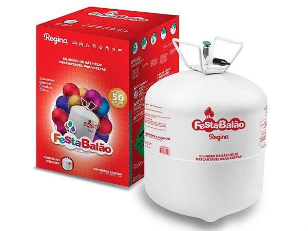 Cilindro de Gás Hélio Descartável Regina, Enche até 50 balões