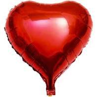 Balão Metalizado Coração Vermelho 45cm Unidade
