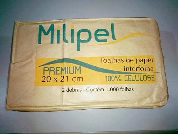 Toalha de Papel Milipel Premium 100% Celulose 20cmx21cm 1000 Folhas Unidade