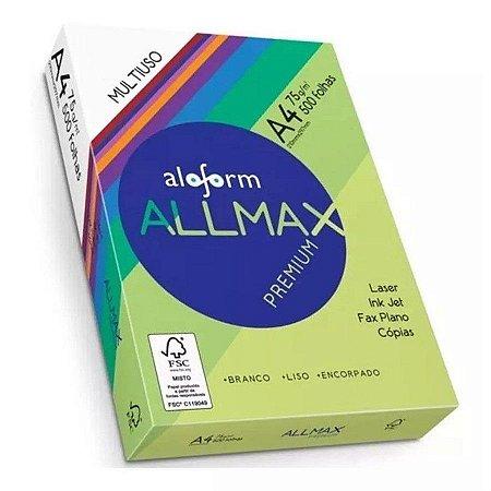 Papel A4 Allmax 210x297 Pacote Com 500 Folhas Unidade