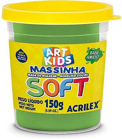 Massinha de Modelar Acrilex Soft Verde 150 Gramas R.073150101 Unidade