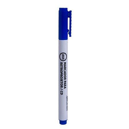 Marcador para Retroprojetor Cd e Dvd Jocar Office Azul 2.0mm R.96023 Unidade