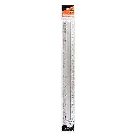 Régua de Alumínio Jocar Office 30 Centímetros R.99001 Unidade