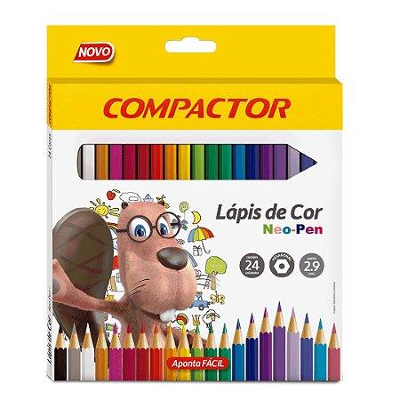 Lápis de Cor Neo Pen Compactor Com 24 Cores