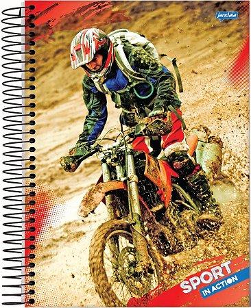 Caderno Capa Dura Jandaia 15X1 Esp Univ 300 Folhas Sport R.52666
