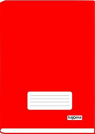 Caderno Univ Capa Dura Broch Kajoma Vermelho C/96 Folhas R.316 Unidade