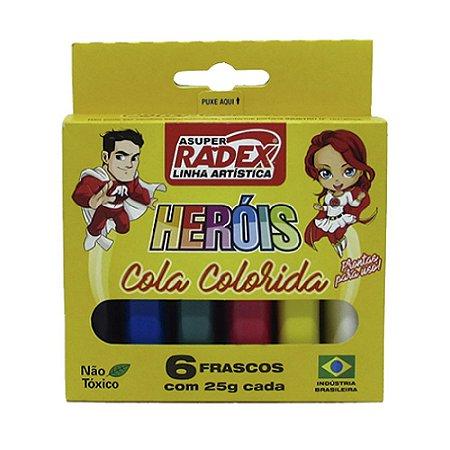 Cola Colorida Radex Neon 6 Cores R.7973