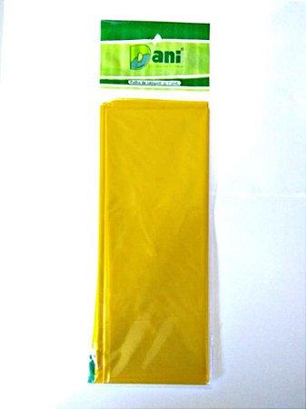 Papel Celofane 80cm X 100cm Amarelo Unidade