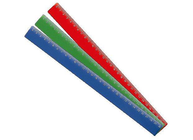 Régua Plástica Waleu Cor Sortida 30cm R.10270013 Unidade