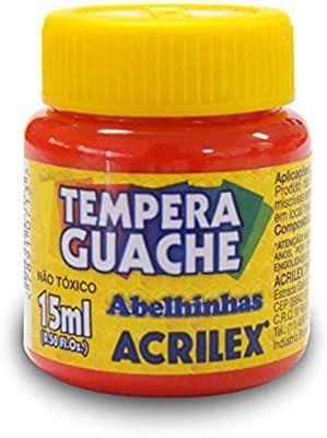 Tinta Guache Acrilex 15Ml Vermelho Fogo 020150507 Unidade