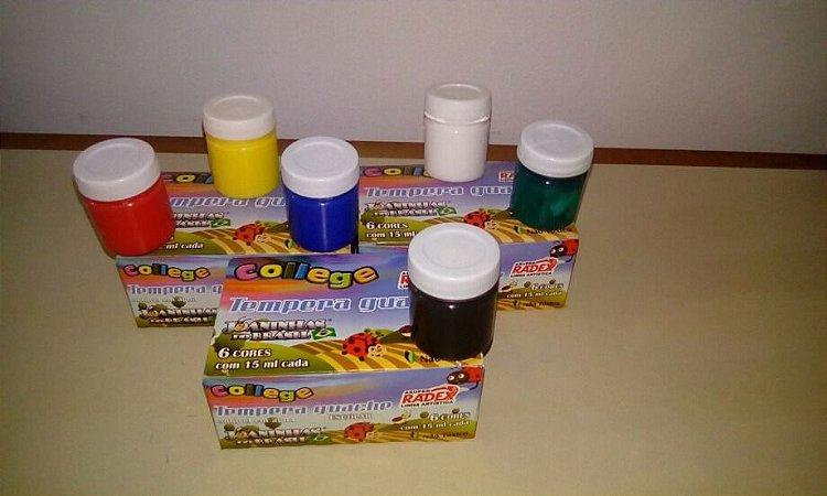 Tinta Guache Radex College 15Ml R.2564 Caixa Com 6 Cores