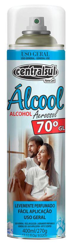 Álcool Aerossol Centralsul 70º 400ml/270g Unidade