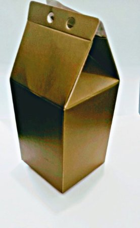 Caixa Lembranca Milk Vivarte Ouro Fosco 17 Centímetros R.2302 Com 6