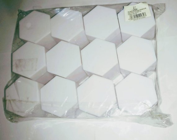 Caixa Sextavada Kriat Branca R.12434 Unidade