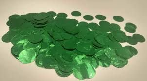 Confete Metalizado Para Bola e Balão Circulos Verde Claro R.Af100-06