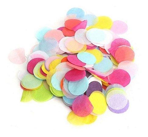 Confete Papel De Seda Para Balão ou Bola - Circulos Multicores Pastel Colorido R.Af103-11